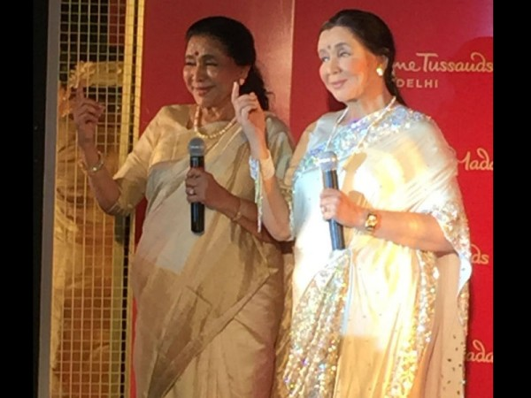 Asha Bhosle and her wax statue