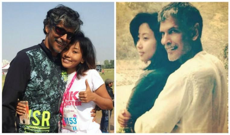 Milind Soman and his girlfriend Ankita Konwar