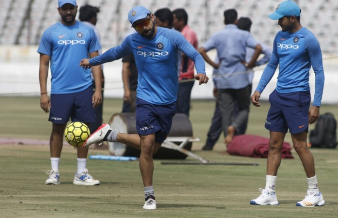 Dhoni, cricketers showcase football skills in Celebrity Clasico match