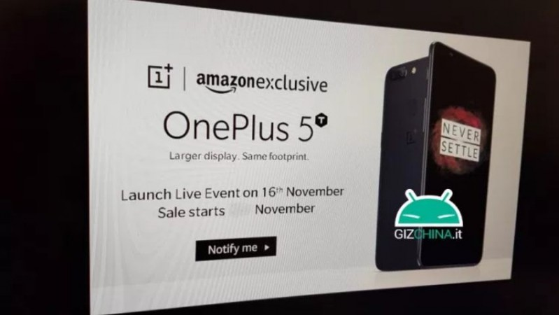 OnePlus 5T, launch date, Amazon India, exclusive, availability details