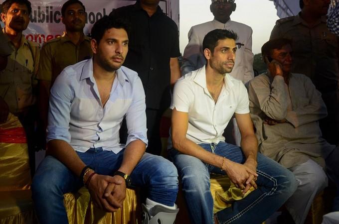 Yuvraj Singh and Ashish Nerha