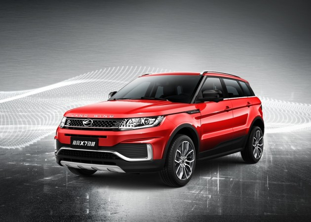 no longer a copycat range rover evoque 39 s chinese doppelganger landwind x7 gets facelift. Black Bedroom Furniture Sets. Home Design Ideas