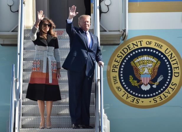 Trump arrives in Japan