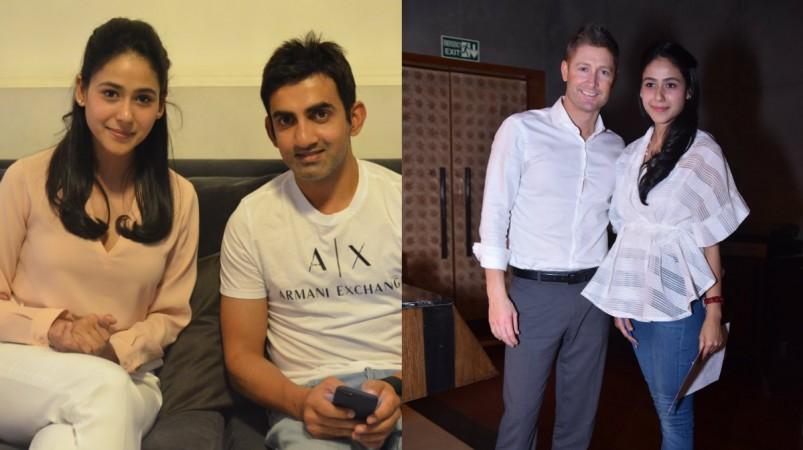 Nmami Agarwal with Gautam Gambhir and Michael Clarke