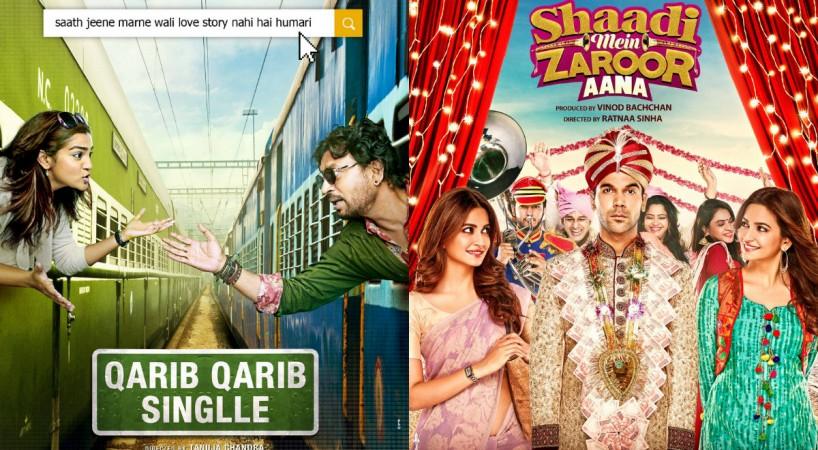 Posters of Qarib Qarib Singlle, Shaadi Mein Zaroor Aana