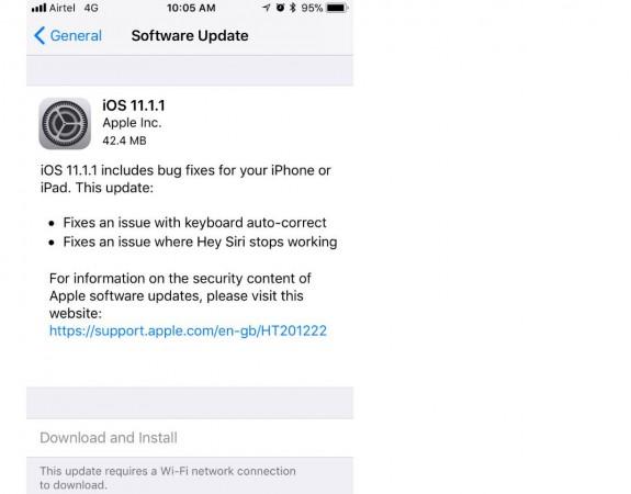 Apple, iOS 11.1, autocorrect feature, iOS 11.1.1 update, Hey Siri, iPhones, iPads