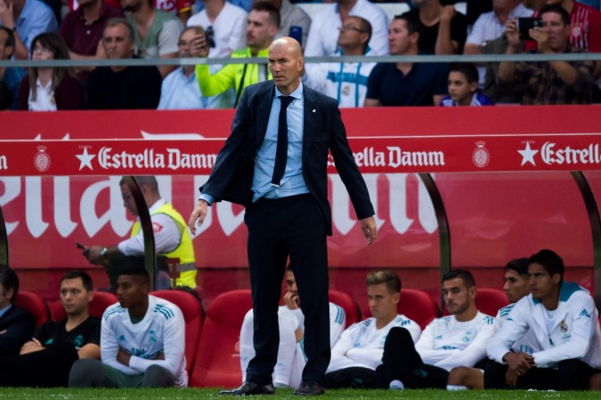 Real Madrid coach Zinedine Zidane might be already feeling the pressure this season Alex Caparros  Getty