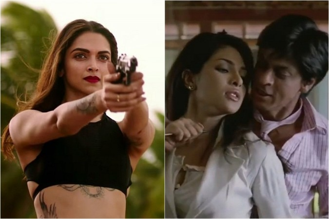Deepika Padukone, Priyanka Chopra and Shah Rukh Khan in Don 3