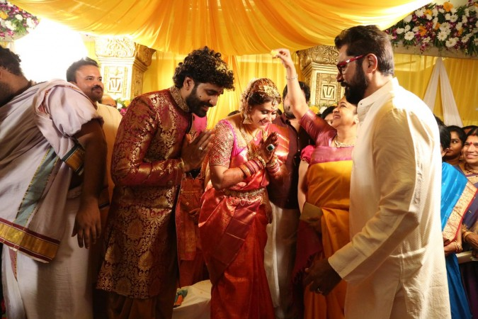Actress Namitha Married with boyfriend Veer in Tirupathi