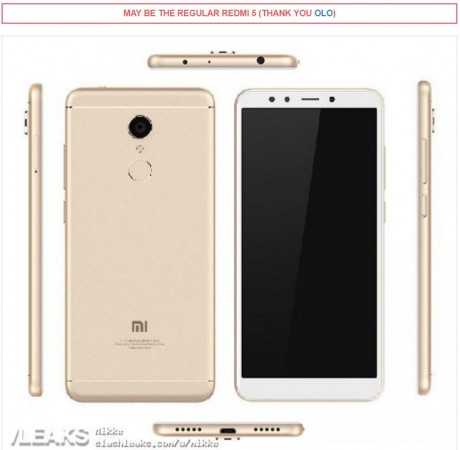Xiaomi Redmi 5 image leak specifications