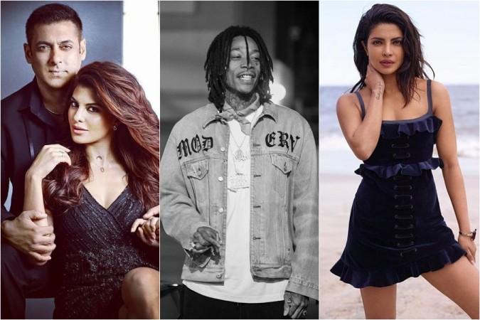 Salman Khan, Jacqueline Fernandez, Priyanka Chopra, Wiz Khalifa