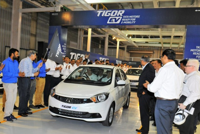 Tata rolls out first Tigor Electric Vehicle