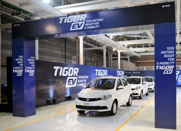 Tata Motors rolls out Ist lot of Tigor EVs from Sanand plant