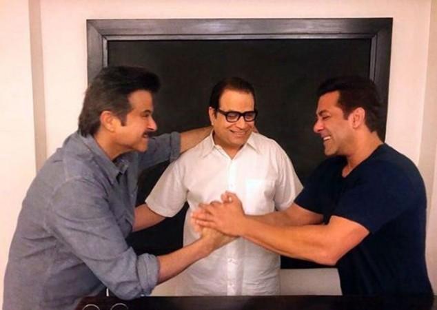 Anil Kapoor, Ramesh Taurani, Salman Khan