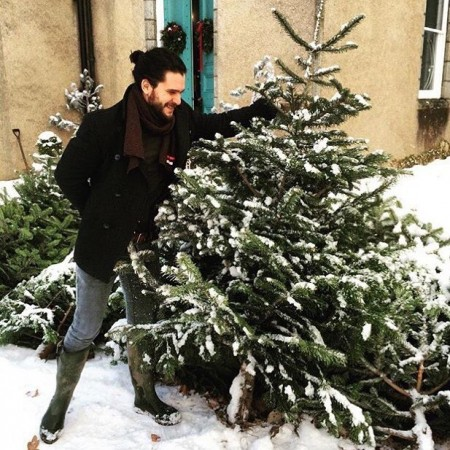 Jon Snow was selling Christmas trees in Aberdeenshire this weekend