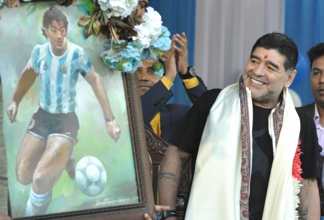 Legendary footballer Diego Maradona arrives in Kolkata on three-day visit
