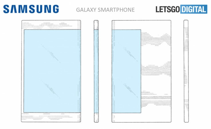 Samsung's latest patent shows a phone with wraparound display
