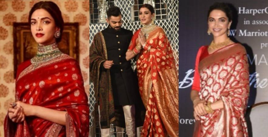 Deepika Padukone inspired Anushka Sharma's wedding reception look