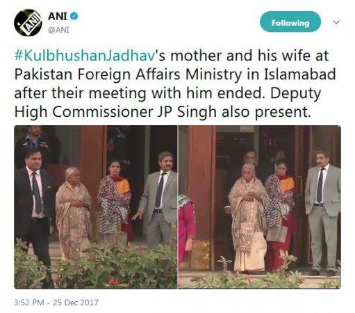 Kulbhushan Jadhav meets his mother, wife in Pakistan