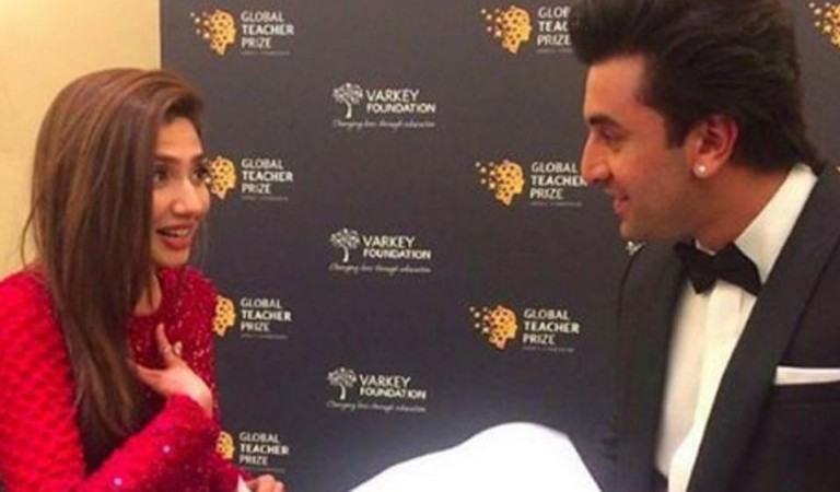 Mahira Khan with Ranbir Kapoor