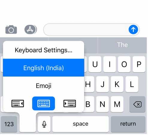 Apple Keyboard positioning