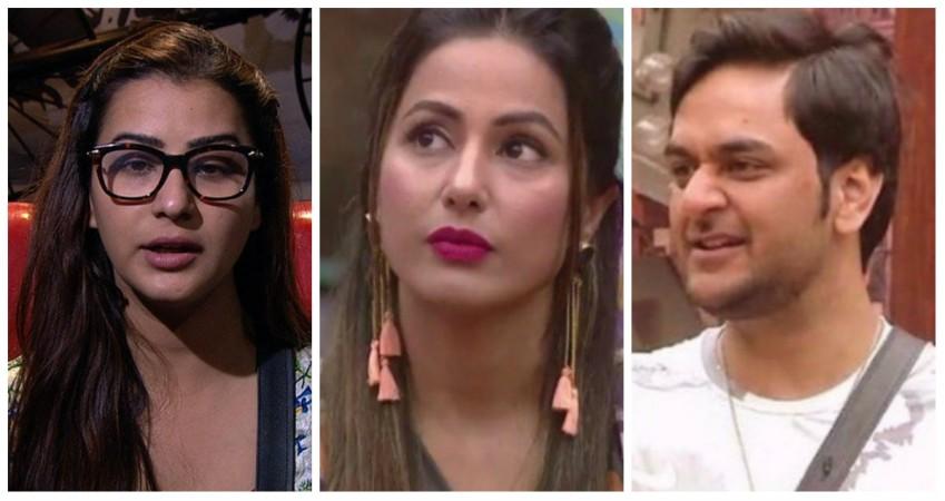 Shilpa Shinde, Hina Khan and Vikas Gupta