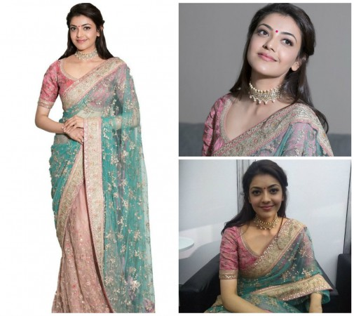 Kajal Aggarwal exposed on Stage before Public by Dancing in Saree - View Photos Proof