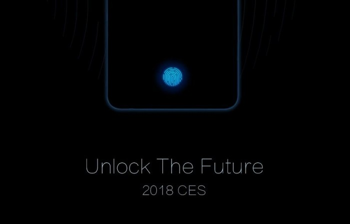Vivo unveils first in-display fingerprint smartphone at CES 2018