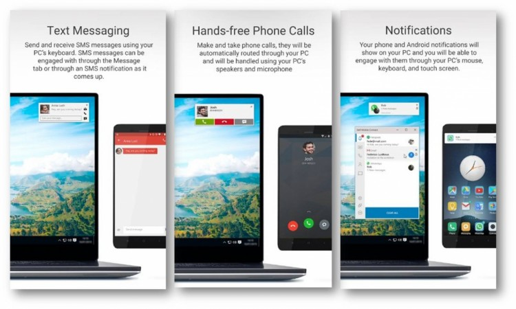 Dell Mobile Connect mirrors phone screen on PC, but there's a catch