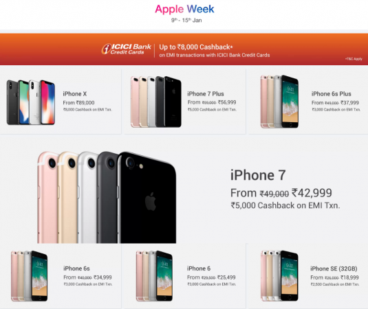 Flipkart Apple Week Sale