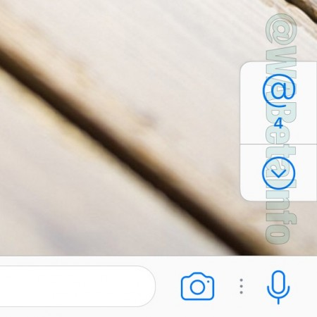 WhatsApp new Mention badge feature