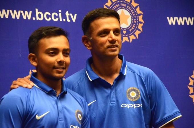 Rahul Dravid and Prthivi Shaw