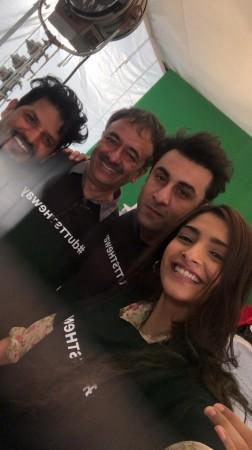 Sonam, Ranbir, Rajkumar Hirani