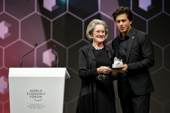 Shah Rukh Khan receives Crystal Award in Davos