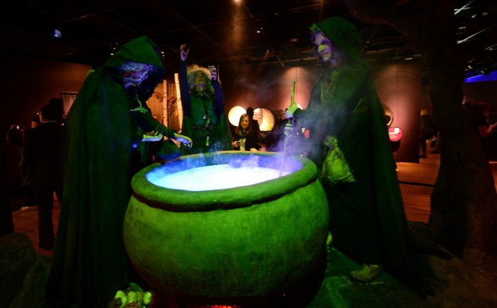 Lady scalded after witch cauldron mishap
