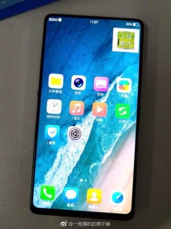 Leaked image of mystery vivo bezel-less smartphone
