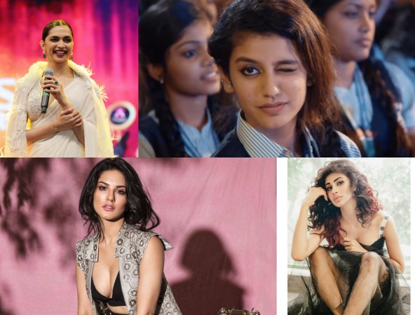 Deepika Padukone, Priya Prakash Varrier, Sunny Leone, Mouni Roy