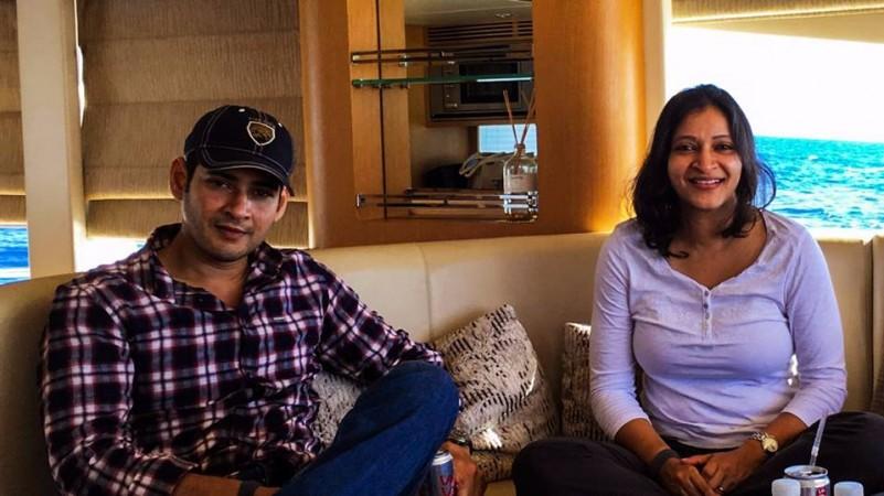 Mahesh Babu with his sister Manjula Gattamaneni