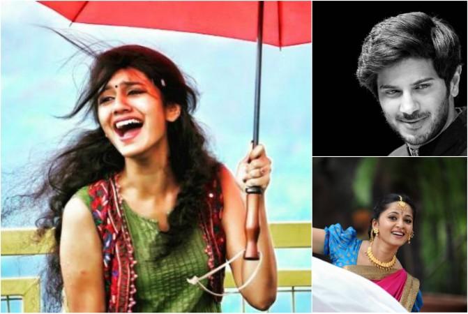 Priya Prakash Varrier, Dulquer Salmaan, Anushka Shetty