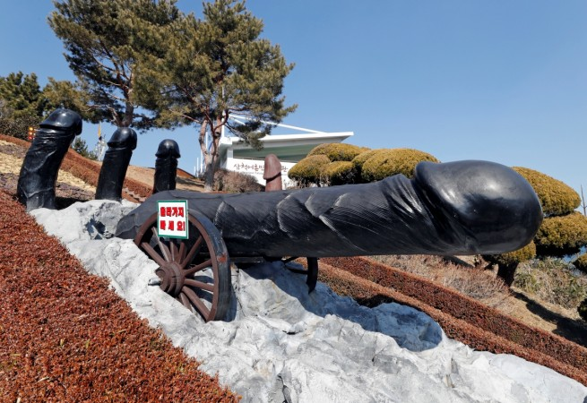 A statue is pictured in South Korea's Haeshindang Park, also know as