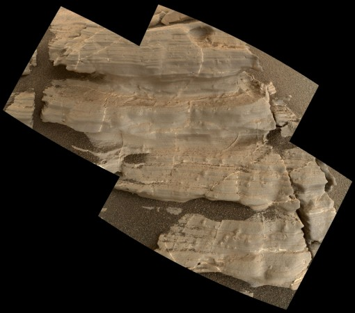 crystal-shaped features on Mars