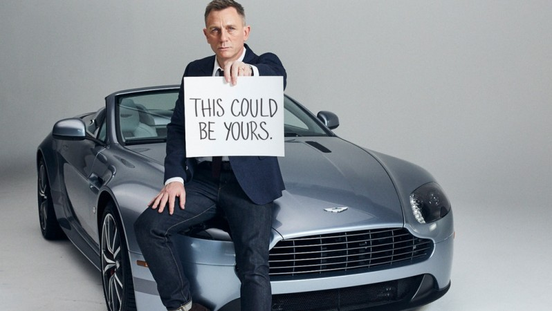 Daniel Craig auctioning off his personal Aston Martin