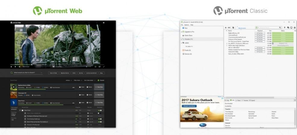 uTorrent Web as seen as its official website