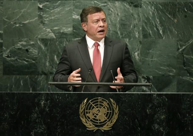 Jordan King arrives on 3 day visit to India