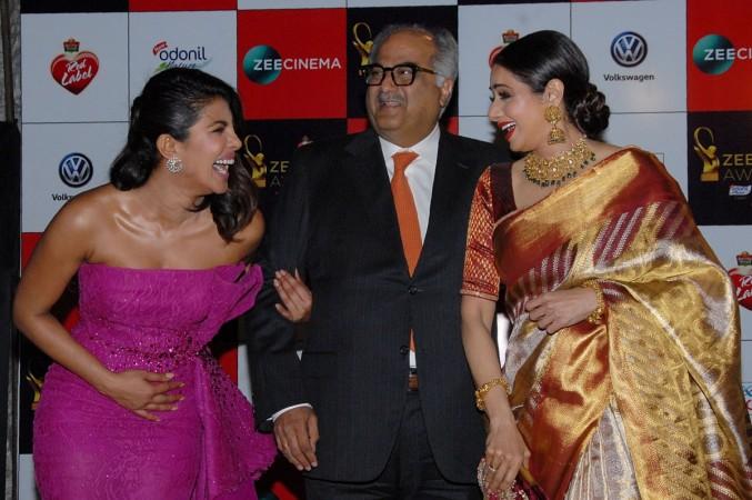 Priyanka Chopra with Sridevi and Boney Kapoor