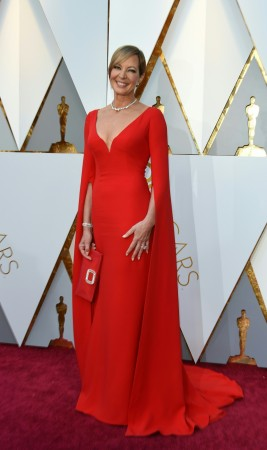 Actress Allison Janney arrives for the 90th Annual Academy Awards on March 4, 2018, in Hollywood, California.