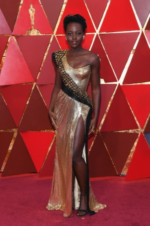 lupita nyong'o attends the 90th Annual Academy Awards at Hollywood & Highland Center on March 4, 2018 in Hollywood, California.