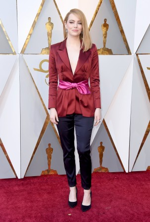 Emma Stone attends the 90th Annual Academy Awards at Hollywood & Highland Center on March 4, 2018 in Hollywood, California.