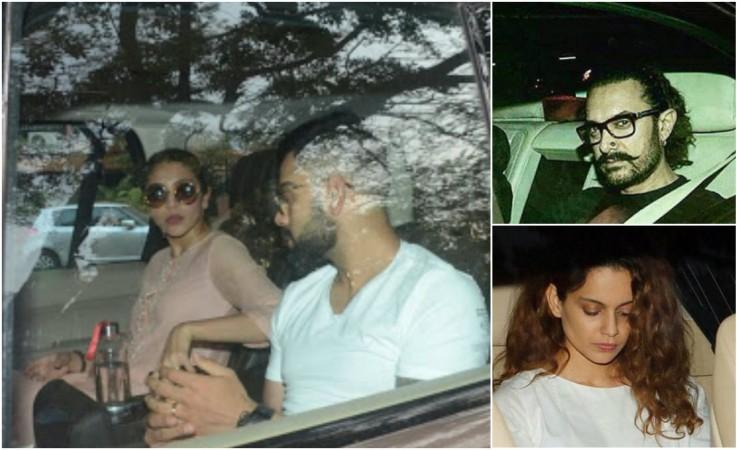 Anushka Sharma, Virat Kohli, Aamir Khan, Kangana Ranaut arrive at Sridevi's residence