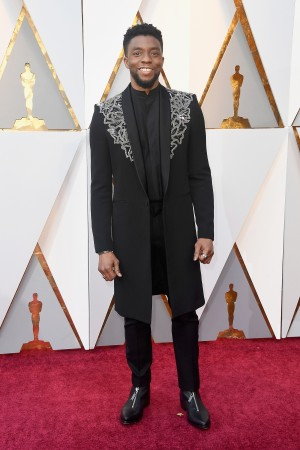 Chadwick Boseman attends the 90th Annual Academy Awards at Hollywood & Highland Center on March 4, 2018 in Hollywood, California.